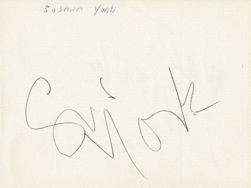 Image 1 for Susannah York - Autograph co-signed by: Walter Matthau - HFSID 166639