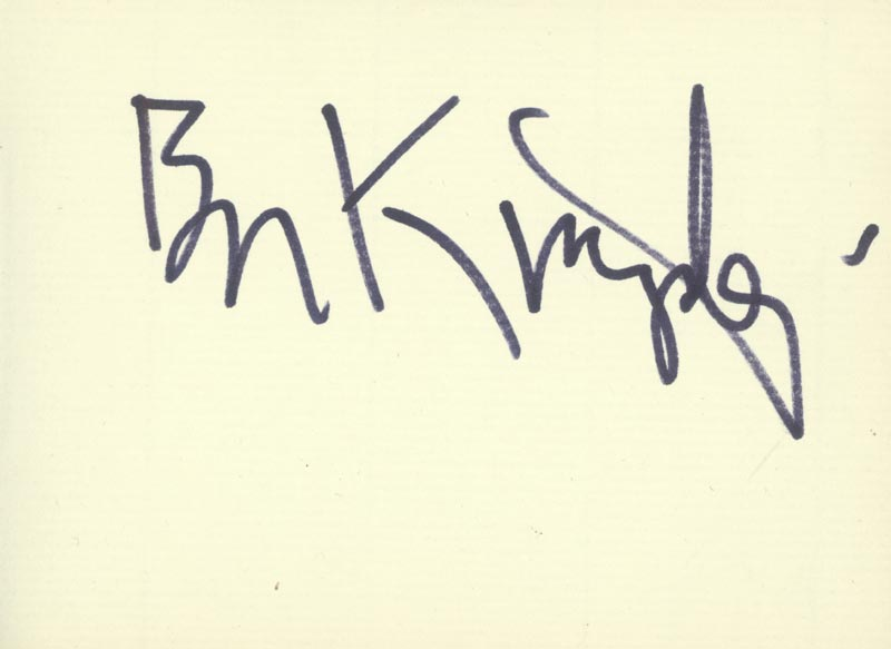 Image 1 for Ben Kingsley - Autograph - HFSID 166644