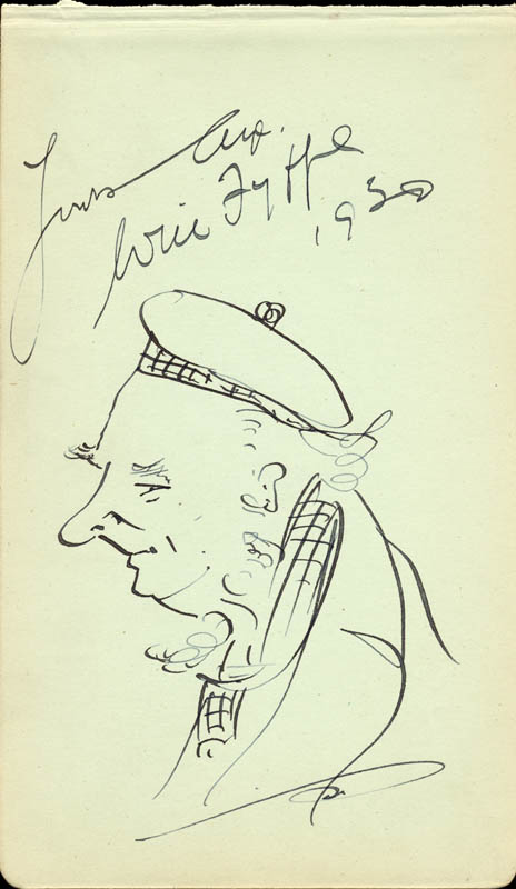 Image 1 for Will Fyffe - Self-caricature Signed 1930 - HFSID 166663