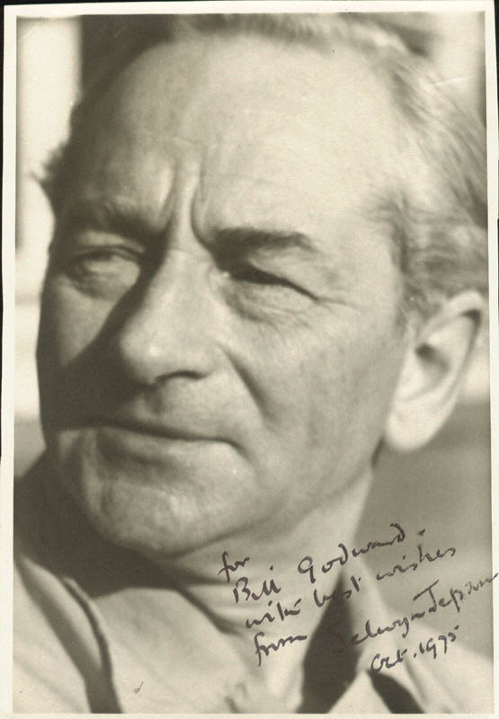 Image 1 for Selwyn Jepson - Autographed Inscribed Photograph 10/1975 - HFSID 166755
