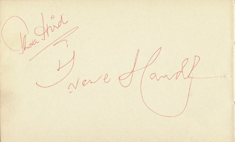 Image 1 for Thora Hird - Autograph co-signed by: Irene Handl, Diana Quick - HFSID 166813