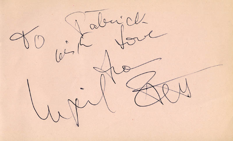 Image 1 for Ingrid Pitt - Autograph Note Signed - HFSID 166819