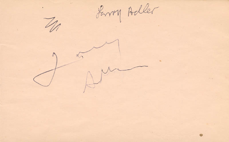 Image 3 for Martin Sheen - Autograph co-signed by: Larry Adler - HFSID 166839
