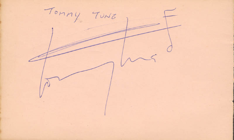 Image 1 for Tommy Tune - Autograph - HFSID 166842