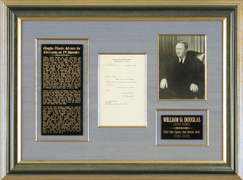 Image 1 for Associate Justice William O. Douglas - Typed Letter Signed 10/04/1972 - HFSID 166970