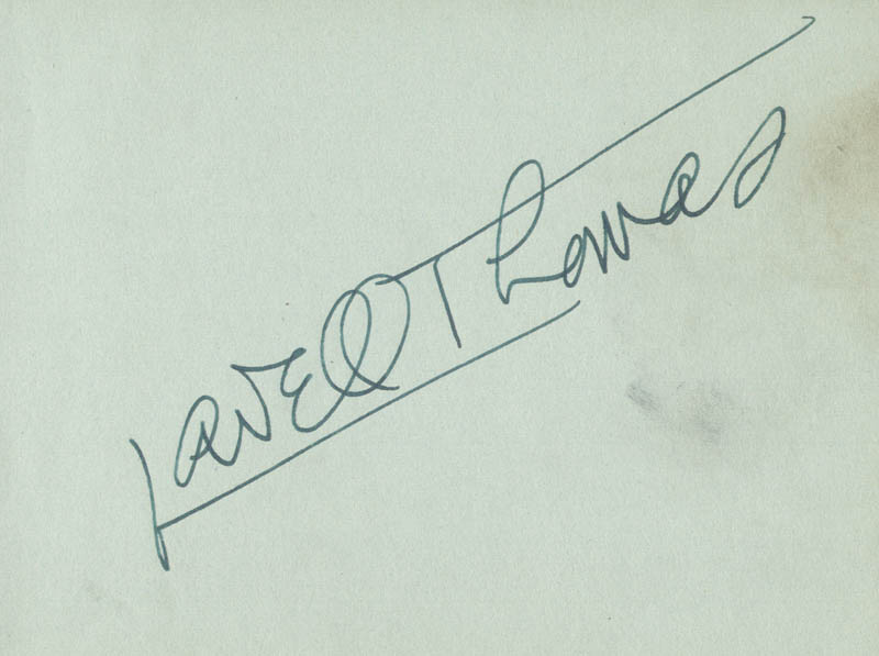 Image 1 for Lowell Thomas - Autograph - HFSID 166996