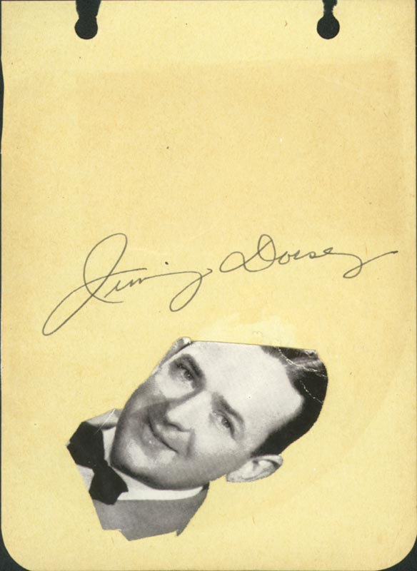 Image 1 for Jimmy Dorsey - Autograph - HFSID 167019