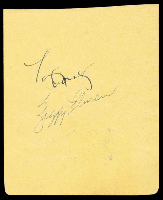 Image 1 for Tommy Dorsey - Autograph co-signed by: Ziggy Elman, Adrienne Ames - HFSID 167020