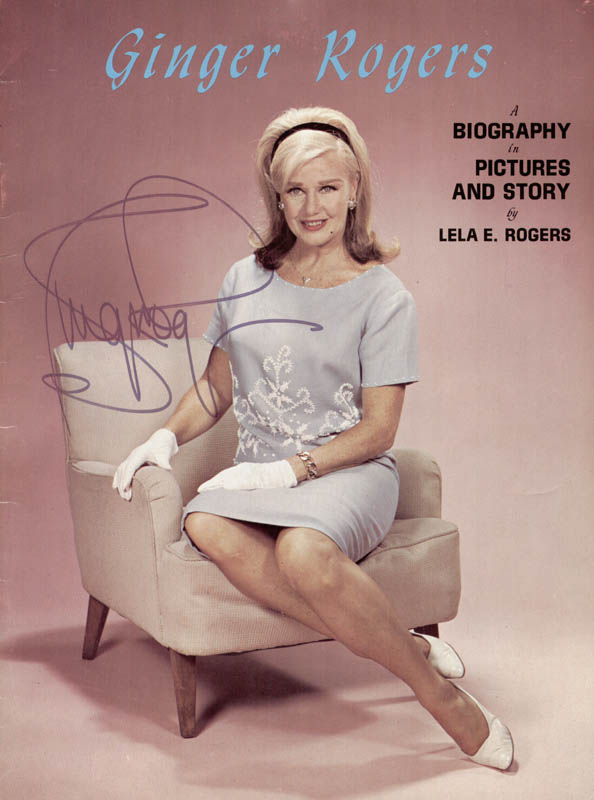 Image 1 for Ginger Rogers - Biography Signed - HFSID 167032
