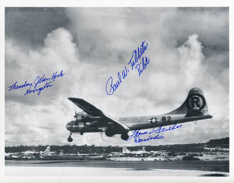 Image 1 for Enola Gay Crew - Autographed Signed Photograph with co-signers - HFSID 167131