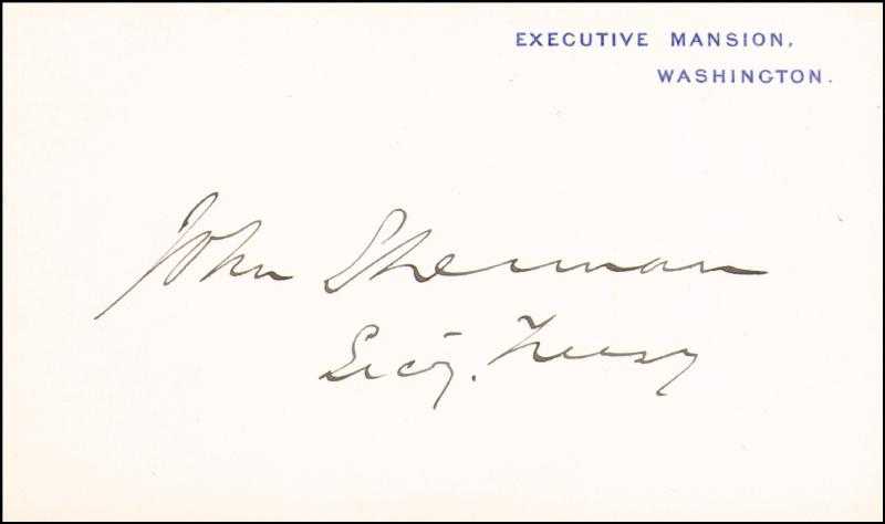 Image 1 for John Sherman - White House Card Signed - HFSID 167164