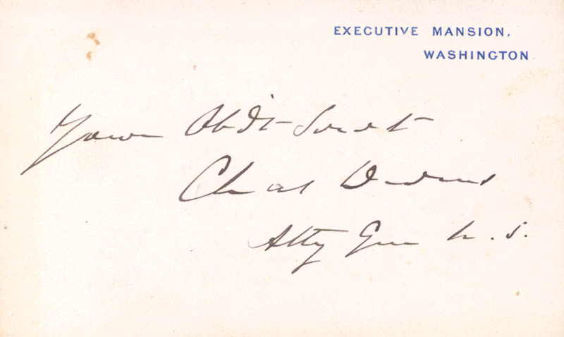 Image 1 for Charles Devens - White House Card Signed - HFSID 167168