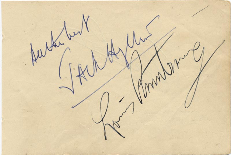 Image 1 for Louis 'Satchmo' Armstrong - Autograph co-signed by: Jack Hylton - HFSID 167232
