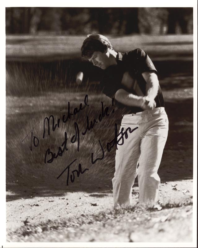 Image 1 for Tom Watson - Autographed Inscribed Photograph - HFSID 167284