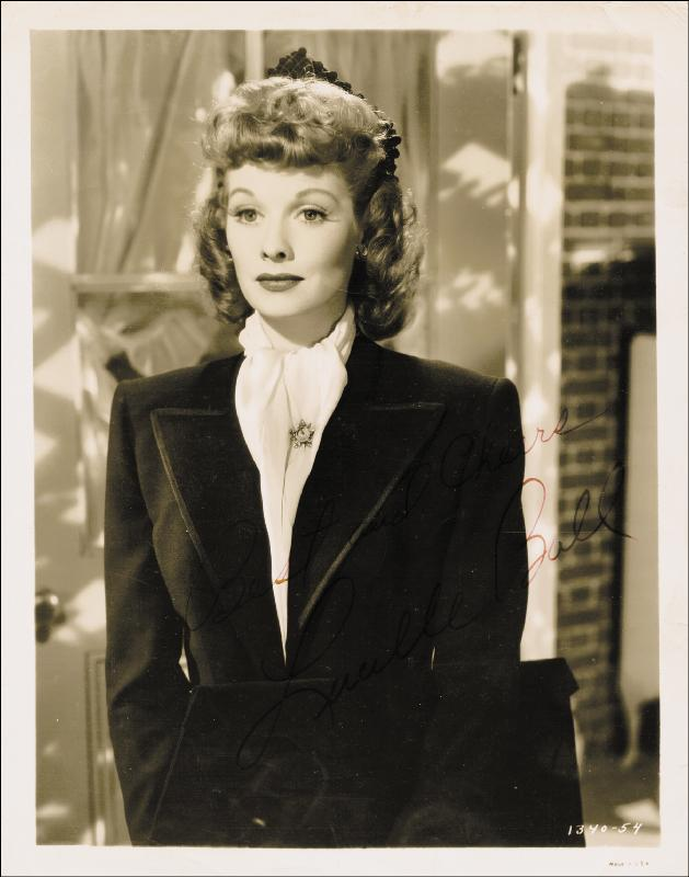 Image 1 for Lucille 'Lucy' Ball - Autographed Signed Photograph - HFSID 167290