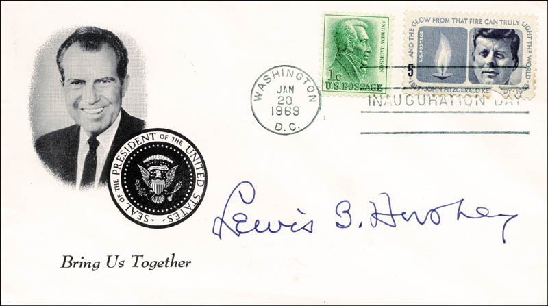 Image 1 for General Lewis B. 'Oldest Soldier' Hershey - Inauguration Day Cover Signed - HFSID 167582