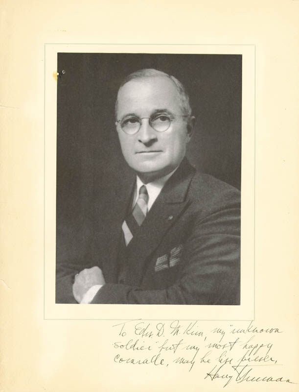 Image 1 for President Harry S Truman - Inscribed Photograph Mount Signed - HFSID 167838