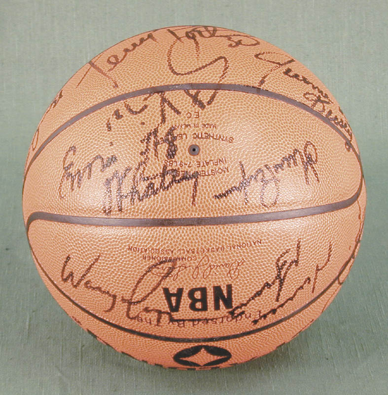 Image 5 for The Chicago Bulls - Basketball Signed Circa 1991 with co-signers - HFSID 167887