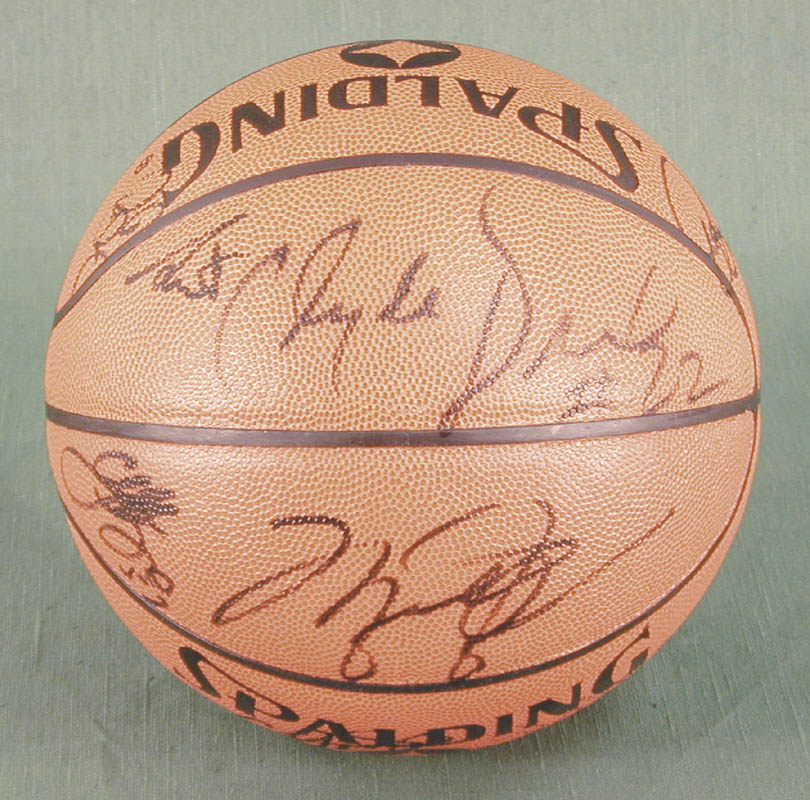 Image 6 for The Chicago Bulls - Basketball Signed Circa 1991 with co-signers - HFSID 167887