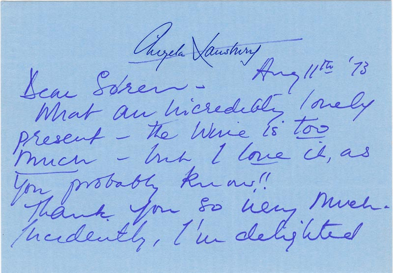 Image 3 for Angela Lansbury - Autograph Letter Signed 08/11/1973 - HFSID 168316