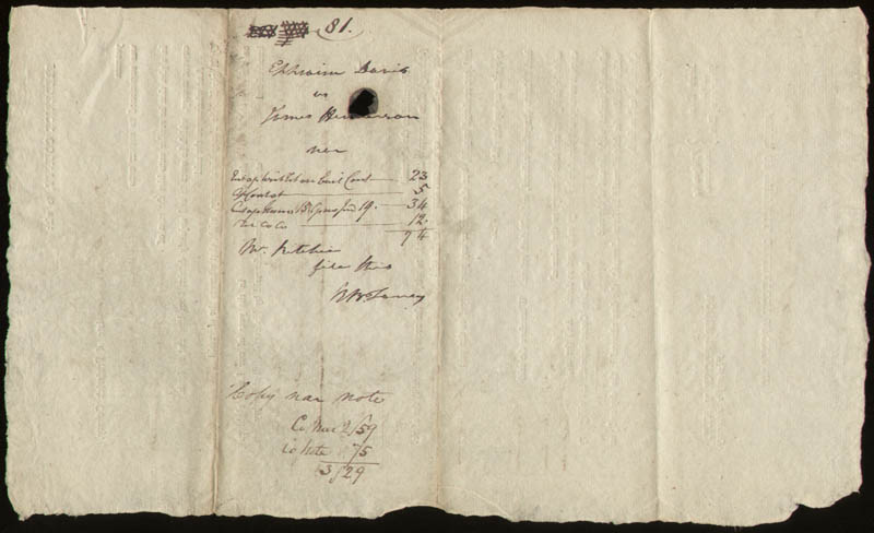 Image 1 for Chief Justice Roger B. Taney - Document Signed 03/23/1812 - HFSID 168352