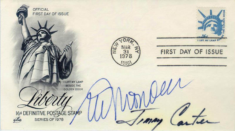 Image 1 for President James E. 'Jimmy' Carter - First Day Cover Signed co-signed by: Vice President Walter F. Mondale - HFSID 16840