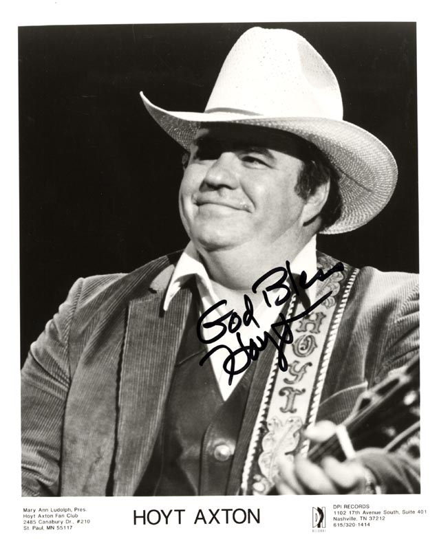 Image 1 for Hoyt Axton - Printed Photograph Signed In Ink - HFSID 168406