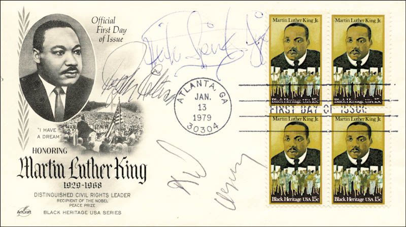 Image 1 for Ralph Waldo Ellison - First Day Cover Signed co-signed by: Michael Spinks, Dick Gregory - HFSID 168478
