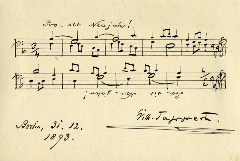 Image 1 for Wilhelm Tappert - Autograph Musical Quotation Signed 12/31/1893 - HFSID 168492