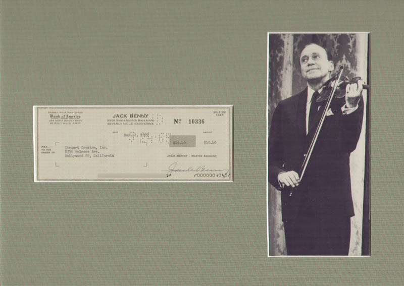 Image 1 for Jack Benny - Autographed Signed Check 05/12/1965 - HFSID 168528