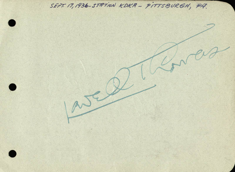 Image 1 for Lowell Thomas - Autograph co-signed by: Joel Mccrea, Frances Dee - HFSID 168554