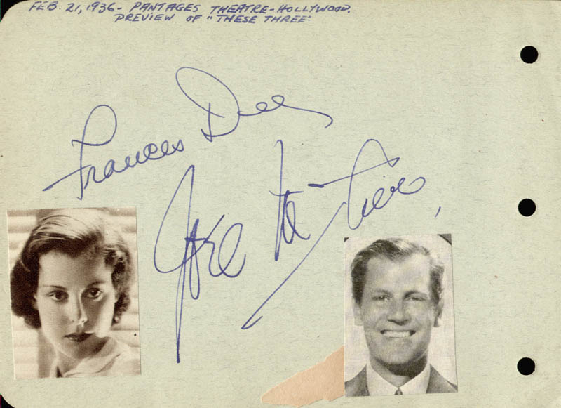 Image 3 for Lowell Thomas - Autograph co-signed by: Joel Mccrea, Frances Dee - HFSID 168554