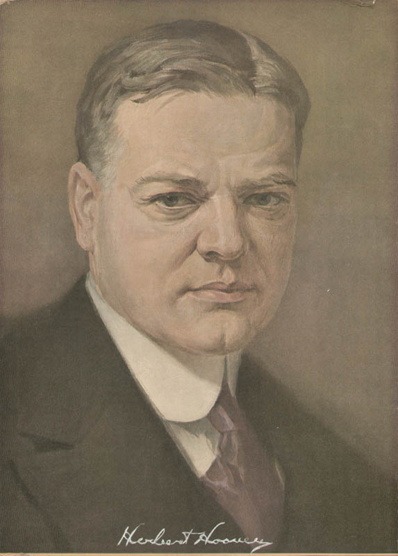 Image 1 for President Herbert Hoover - Printed Art Signed In Ink - HFSID 16860