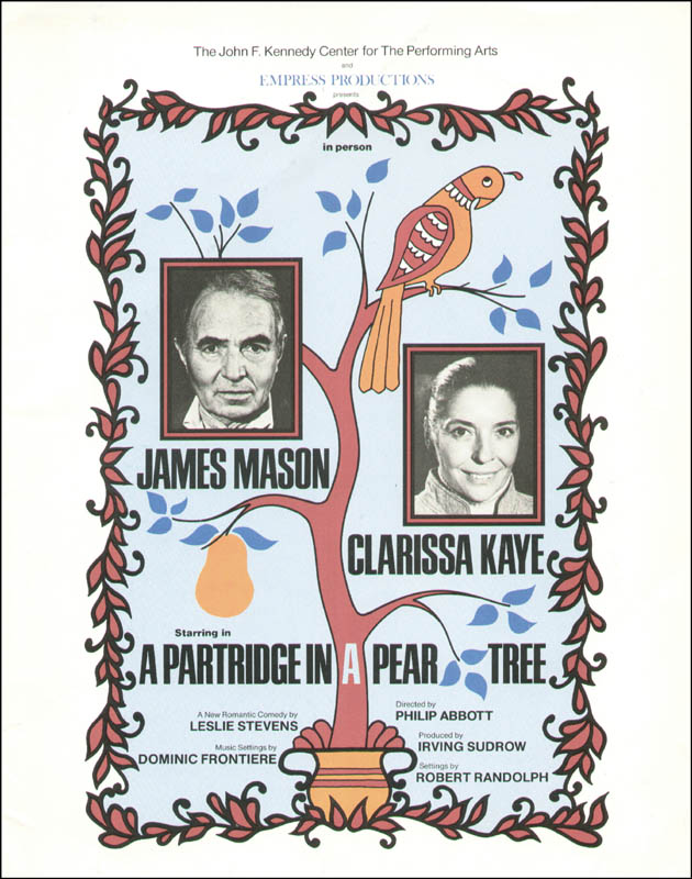 Image 3 for A Partridge In A Pear Tree Play Cast - Program Signed co-signed by: Clarissa Kaye-mason, James Mason - HFSID 168914