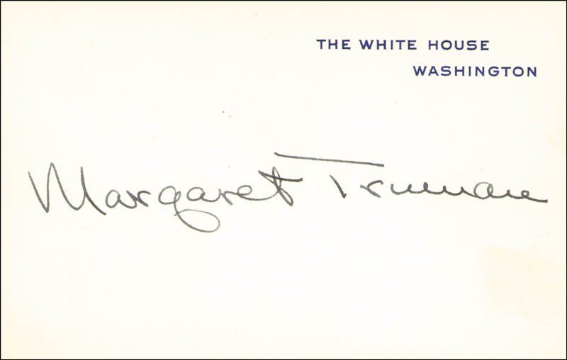 Image 1 for Margaret Truman - White House Card Signed - HFSID 16897