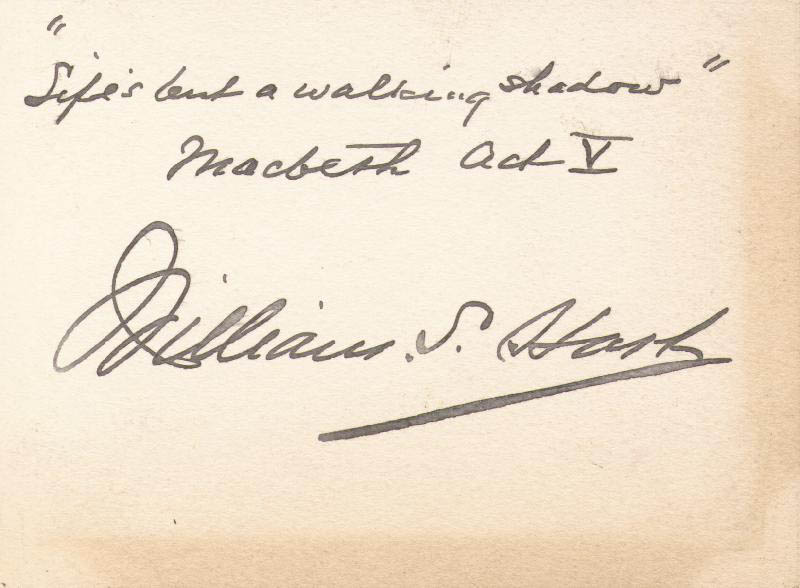 Image 1 for William S. Hart - Autograph Quotation Signed - HFSID 168986