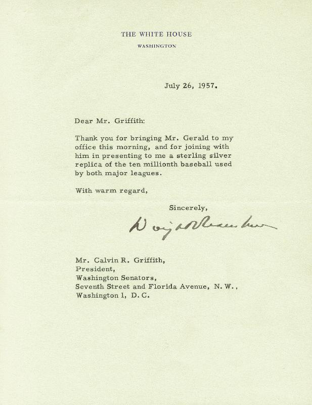 Image 1 for President Dwight D. Eisenhower - Typed Letter Signed 06/26/1957 - HFSID 16906