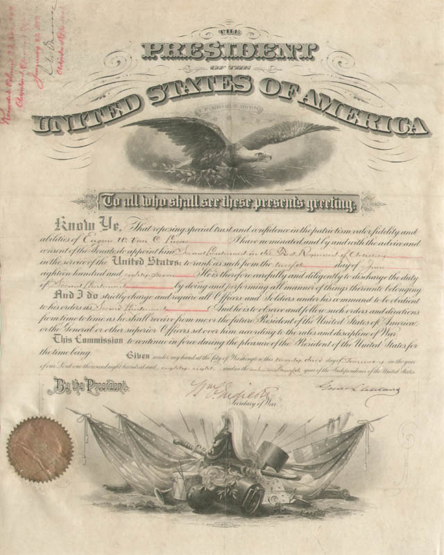 Image 1 for President Grover Cleveland - Military Appointment Signed 01/23/1888 co-signed by: William C. Endicott - HFSID 16910