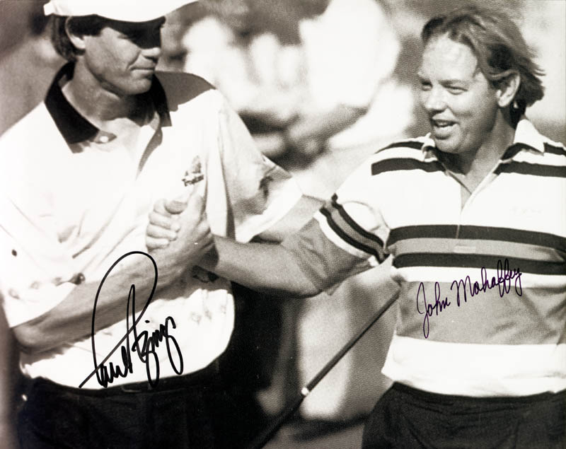 Image 1 for Paul Azinger - Autographed Signed Photograph co-signed by: John Mahaffey - HFSID 169143