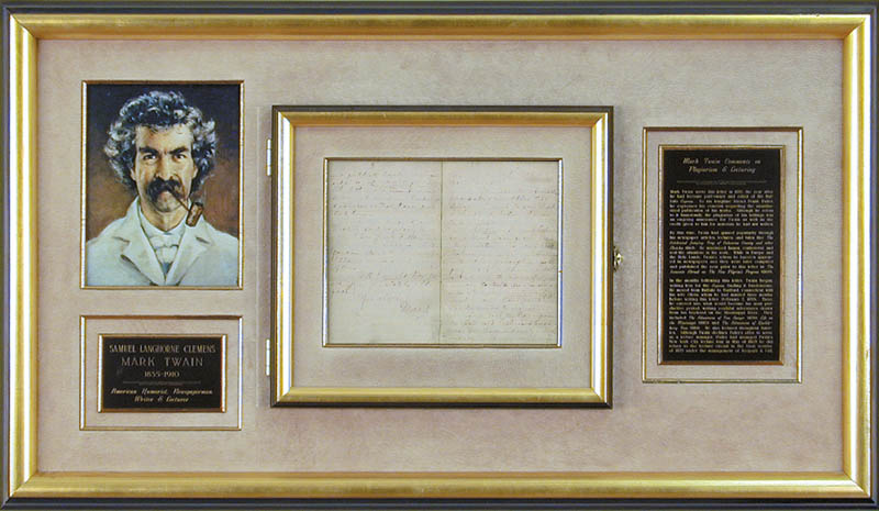 Image 1 for Samuel L. 'Mark Twain' Clemens - Autograph Letter Signed 05/21/1870 - HFSID 16926