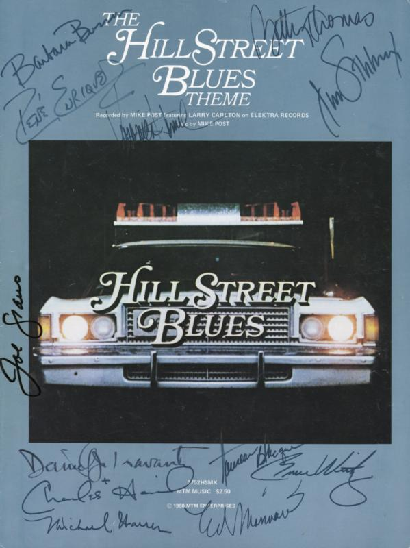 Image 1 for Hill Street Blues TV Cast - Sheet Music Signed with co-signers - HFSID 169264