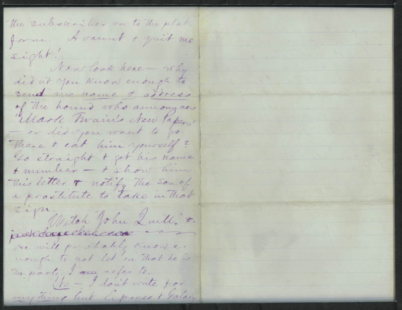 Image 4 for Samuel L. 'Mark Twain' Clemens - Autograph Letter Signed 05/21/1870 - HFSID 16926