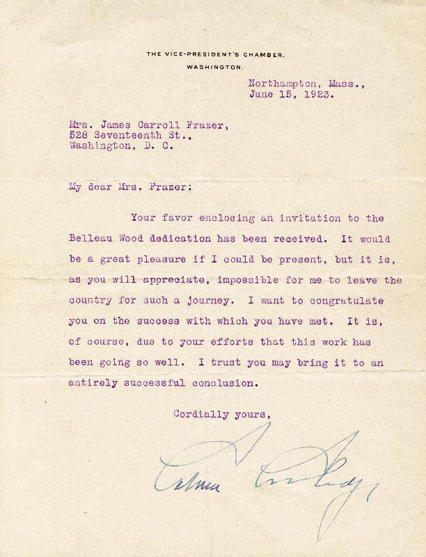Image 1 for President Calvin Coolidge - Typed Letter Signed 06/15/1923 - HFSID 16957