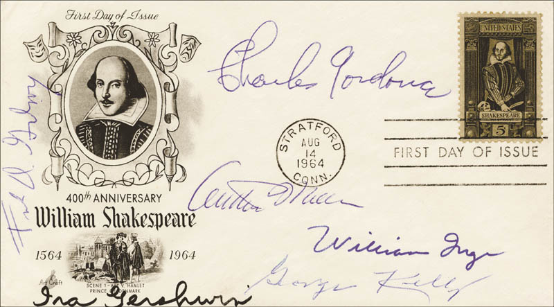 Image 1 for Ira Gershwin - First Day Cover Signed co-signed by: George Kelly, Frank D. Gilroy, Charles Gordone, William Inge, Arthur Miller - HFSID 171232