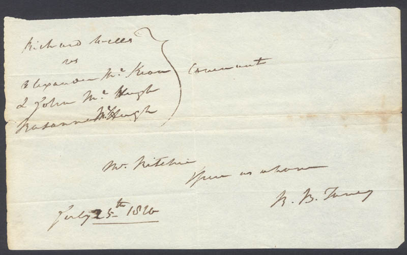 Image 1 for Chief Justice Roger B. Taney - Autograph Fragment Signed 07/25/1820 - HFSID 17130