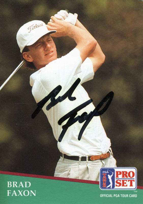 Image 1 for Brad Faxon - Trading/Sports Card Signed - HFSID 171311
