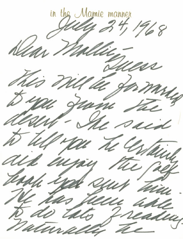 Image 3 for First Lady Mamie Doud Eisenhower - Autograph Letter Signed 07/24/1968 - HFSID 171400