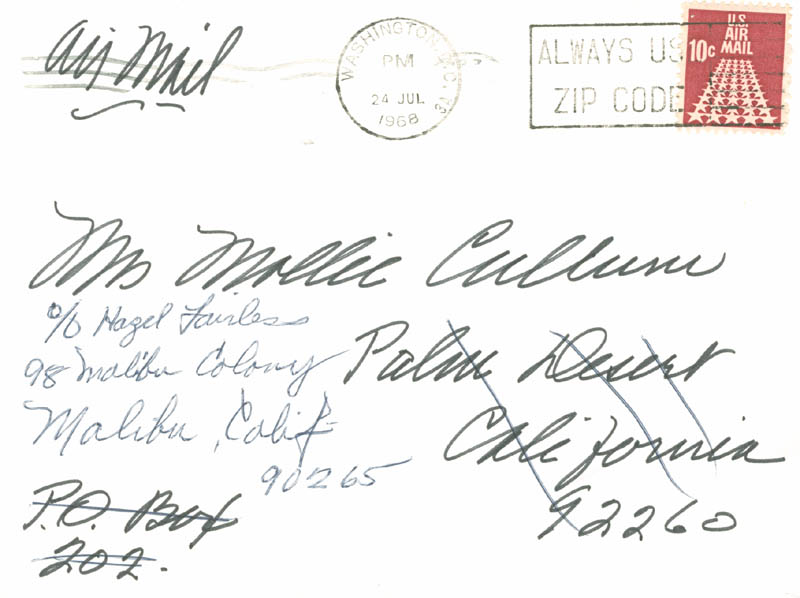 Image 5 for First Lady Mamie Doud Eisenhower - Autograph Letter Signed 07/24/1968 - HFSID 171400