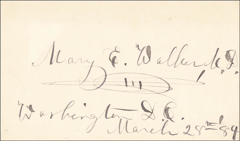 Image 1 for Dr. Mary Edwards Walker - Autograph 03/28/1884 - HFSID 171492