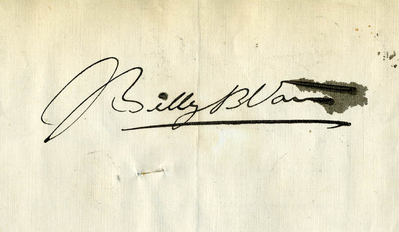 Image 1 for Billy B. Van - Autograph - HFSID 171751